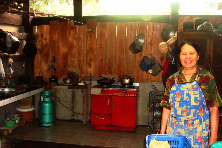 Kitchen of Thai home