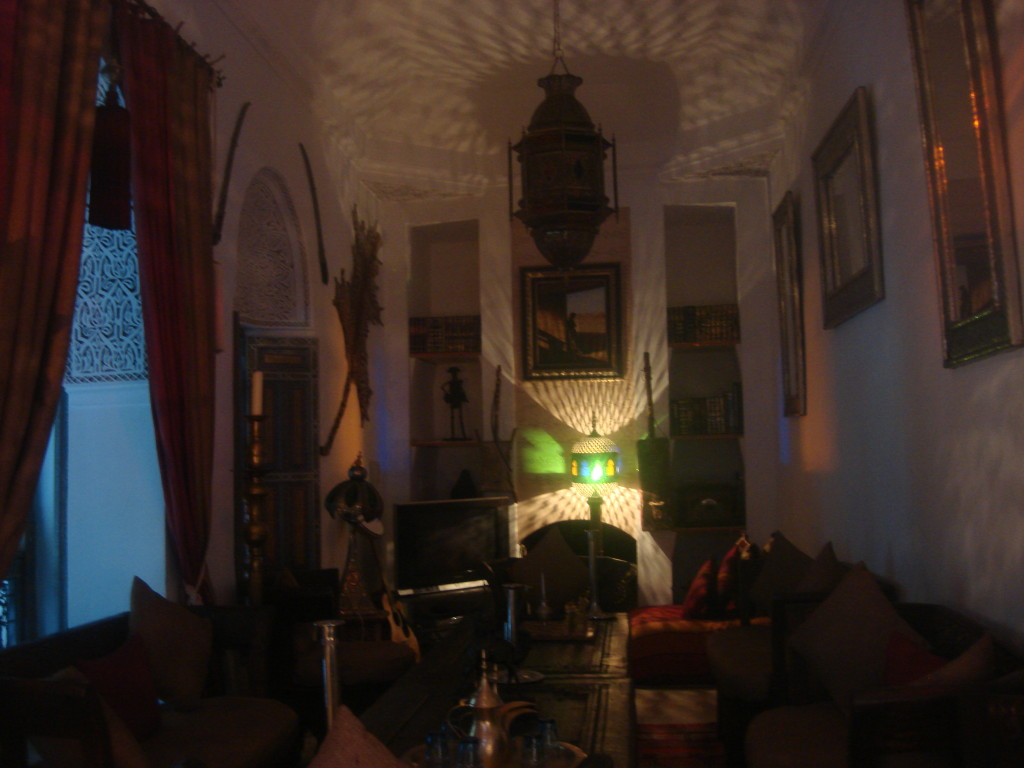 Living room at Riad Dar Eliane