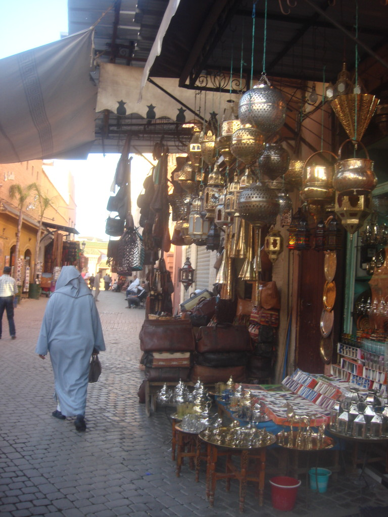 Vendors in the medina