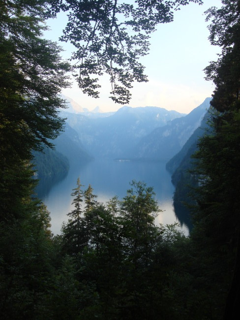 View of Lake Konigsee from hiking trails