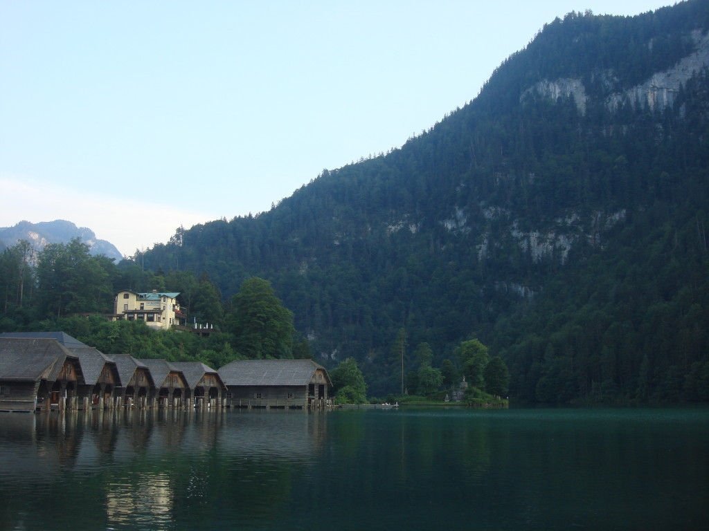 Schonau am Konigsee on shore of Lake Konigsee