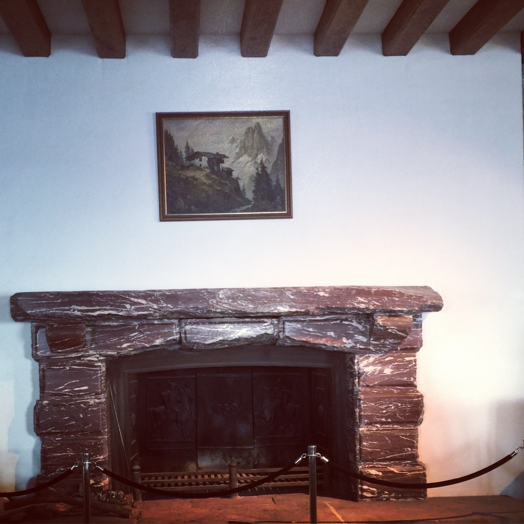 A fireplace - a gift from Mussolini